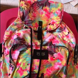 Vs Pink Galaxy Floral Backpack f2013 collection